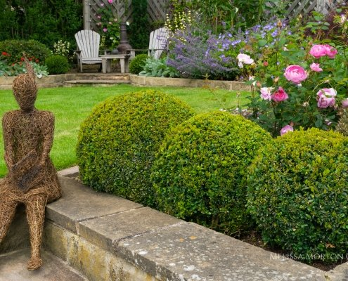 Melissa Morton Garden Designer. Garden art and sculpture to enhance wellbeing